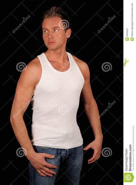 handsome man wearing vest stock photography image