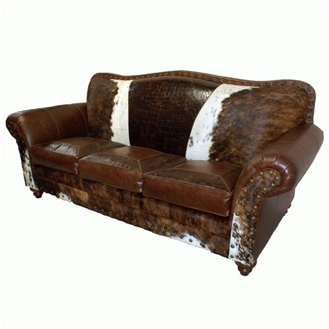 Cowhide Leather Sofa by 20 Choices Of Cowhide Sofas Sofa Ideas