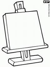 Easel Kunst Kleurplaat Drawing Ezel Kinderen Thema Preschool Getdrawings Colouring Coloring Drawings Rembrandt Voor Explore Teaching Fun sketch template