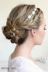Braided Updo and Flower Crown | Beauty and Makeup ...