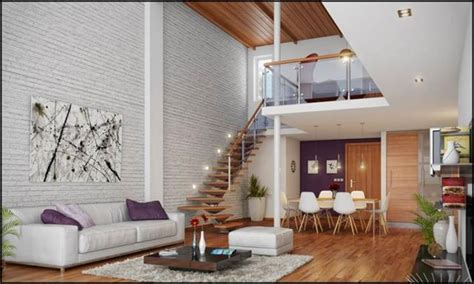 living room small and wooden staircases brick wall design living room with white brick wall accent homesfeed