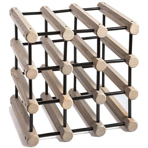 jk wine rack wooden ash modular wine rack grey with black pins wine