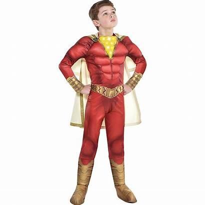 Shazam Costume Muscle Child Party Partycity