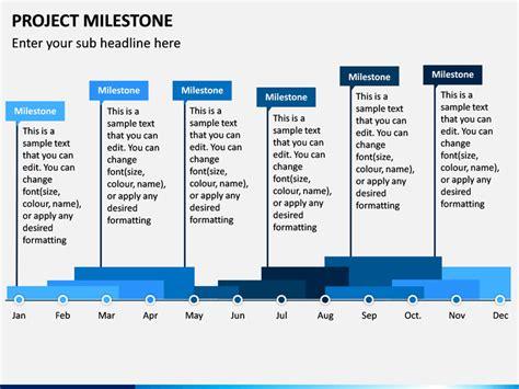 project milestone powerpoint template sketchbubble