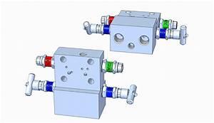 Md41t 4-valve Dp  Flow Manifold  T-type