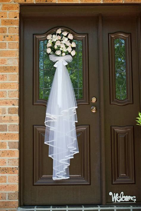 Flowers On The Front Door For The Wedding Day Favorite