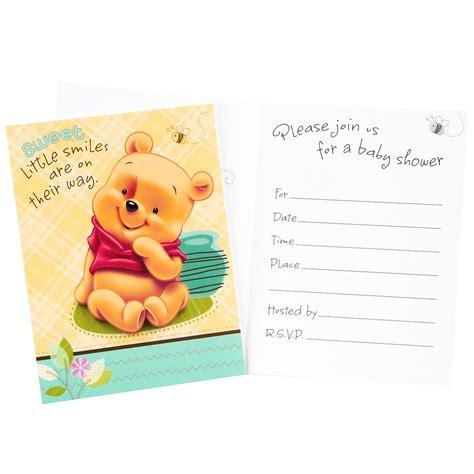 winnie the pooh baby shower invitations disney baby pooh and friends baby shower invitations 8