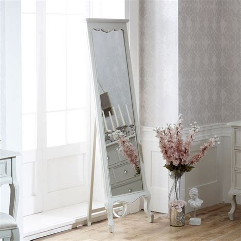 floor mirror grey elise grey floor standing cheval full length mirror french grey bedroom home ebay