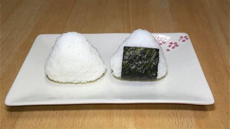 como fazer onigiri sem molde bolinho japones