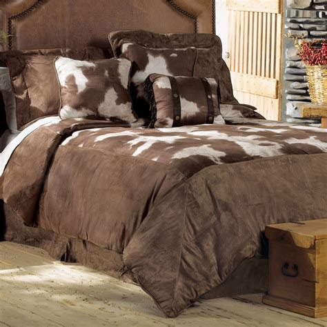 Cowhide Bedding Sets by Cowhide Luxury Microfiber Bed Set House
