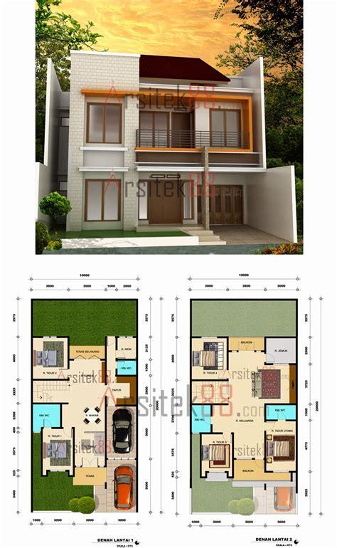 rumah minimalis  lantai ukuran  expo desain rumah
