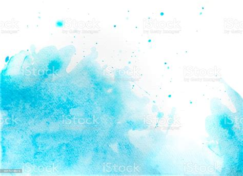 Blue Watercolor Background Abstract Ocean And Waves Stock