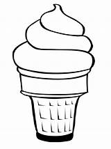 Coloring Ice Cream Pages Cup Serve Soft Clip Cups Sandwich Cones sketch template