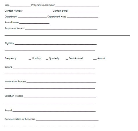 office  human resources recognition template