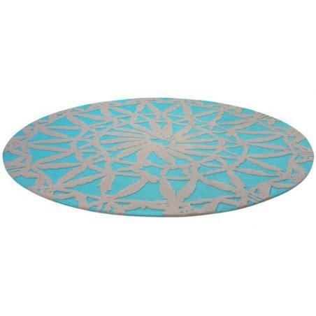 tapis rond de salon turquoise esprit home oriental lounge