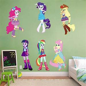 my little pony equestria girls decal removable wall With my little pony wall decals