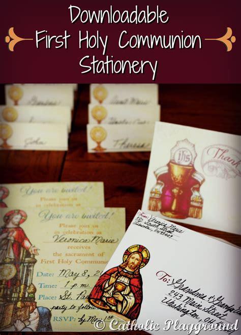 holy communion stationery catholic