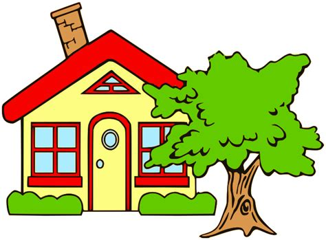 small house cottage with tree buildings rural cottage cottage with
