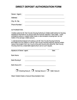 direct deposit form fill   sign printable