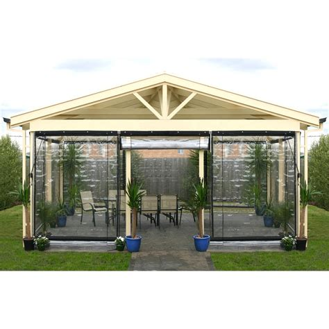 smart home products 90 x 240cm clear pvc outdoor bistro blind