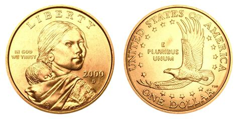 2000 dollar coin 2000 d sacagawea dollars golden dollar value and prices