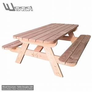 Table Bois Pique Nique : table pique nique ld table design wood structure ~ Melissatoandfro.com Idées de Décoration