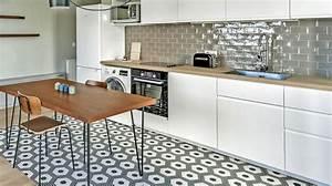 Cuisine Carreau De Ciment : quel carrelage pour le sol de votre cuisine ~ Melissatoandfro.com Idées de Décoration