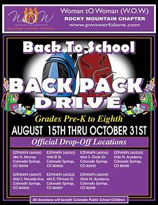 31 Fundraiser Flyer Colorado Springs Back To School Backpack Drive Through 31