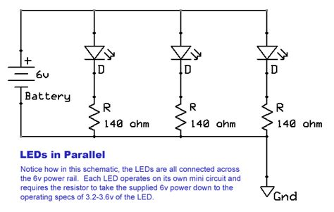 Cable Joins Wiring Leds Parallel Electrical