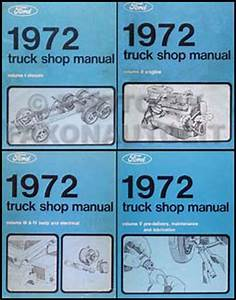 1972 Ford Truck Repair Shop Manuals On Cd For Pickup