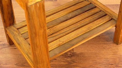 teak wood table side table handmade java furniture