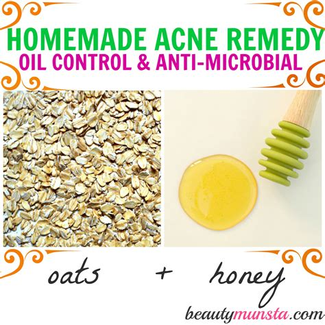 homemade oatmeal  honey face mask  acne