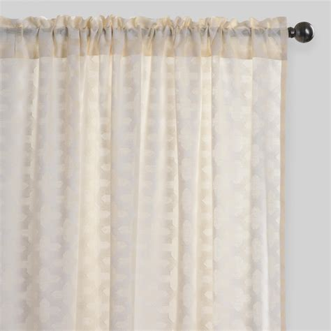arabesque cutwork sheer cotton curtains set of 2 world