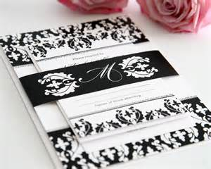 do it yourself wedding invitations black and white damask wedding invitations wedding