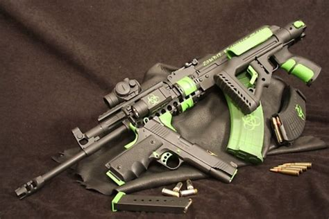 zombie weapons custom tactical kimber ak 47 hunter ii anti tle guns coolest gun zombies gear armas stand apocalypse awesome