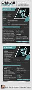 minimalistix dj resume graphicriver With dj biography template
