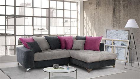 h et h canapé canapé d 39 angle à droite corfu gris clair gris foncé