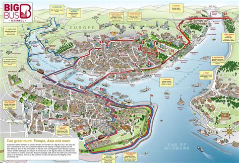map  istanbul tourist attractions sightseeing tourist