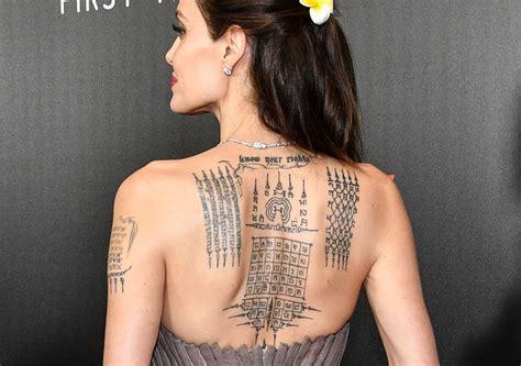 angelina jolie  tattoo  quirkybyte trendz
