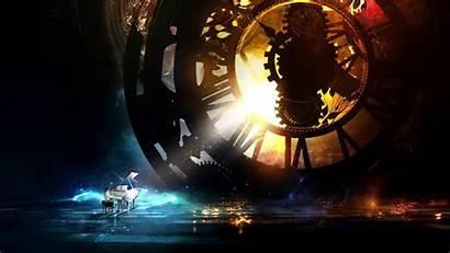 Clock Deviantart Fantasy Clockwork Piano Wallpapers Musical