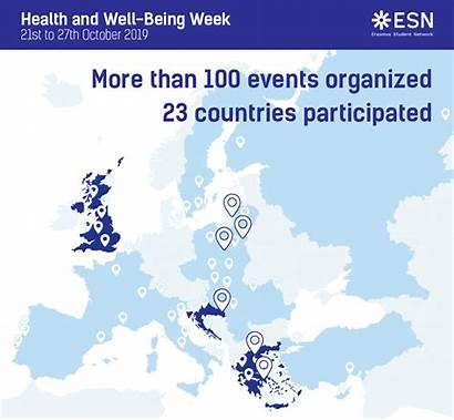Esn Events Unites Countries Being Well Health
