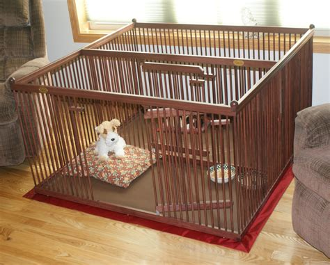 wooden dog crates pupperton    double