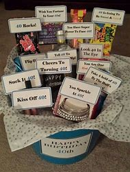 40th Birthday Gift Basket Ideas