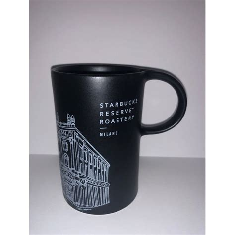 There's not much that's better than drinking holiday cocoa or coffee out of a holiday starbucks mug. Starbucks Reserve Roastery Milan Milano Illustration Black Coffee Mug New - Walmart.com ...