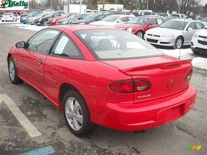 2001 Bright Red Chevrolet Cavalier Z24 Coupe #25501001 ...
