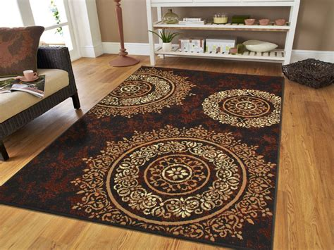 contemporary area rugs new area rugs 8x10 brown black circles area rug 5x7