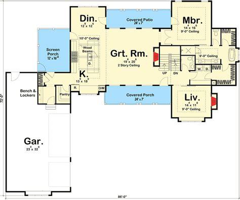 farmhouse floor plans architectural designs