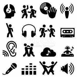 Dance Party Icons Black Series stock photos - FreeImages com