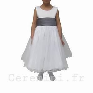 robe ceremonie fille grise With robe ceremonie fillette
