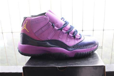 nike mens air jordan retro  xi basketball shoes purple black  gold price   air